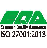 EQA 情報セキュリティー・マネジメントシステムに関わる国際的な規格で ある「ISO27001」を認証・取得しています。